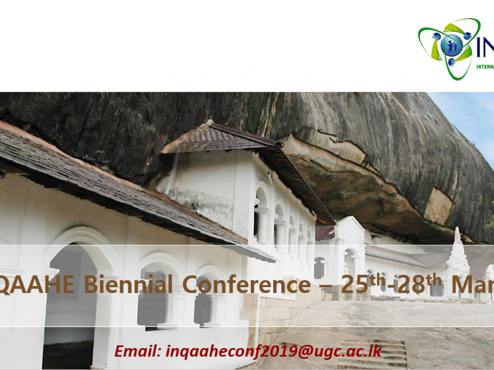 INQAAHE Conference 2019 in Sri Lanka